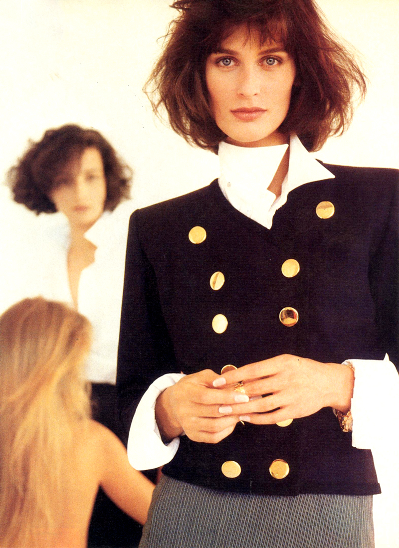 Yves Saint Laurent in Vogue US January 1987 via www.fashionedbylove.co.uk