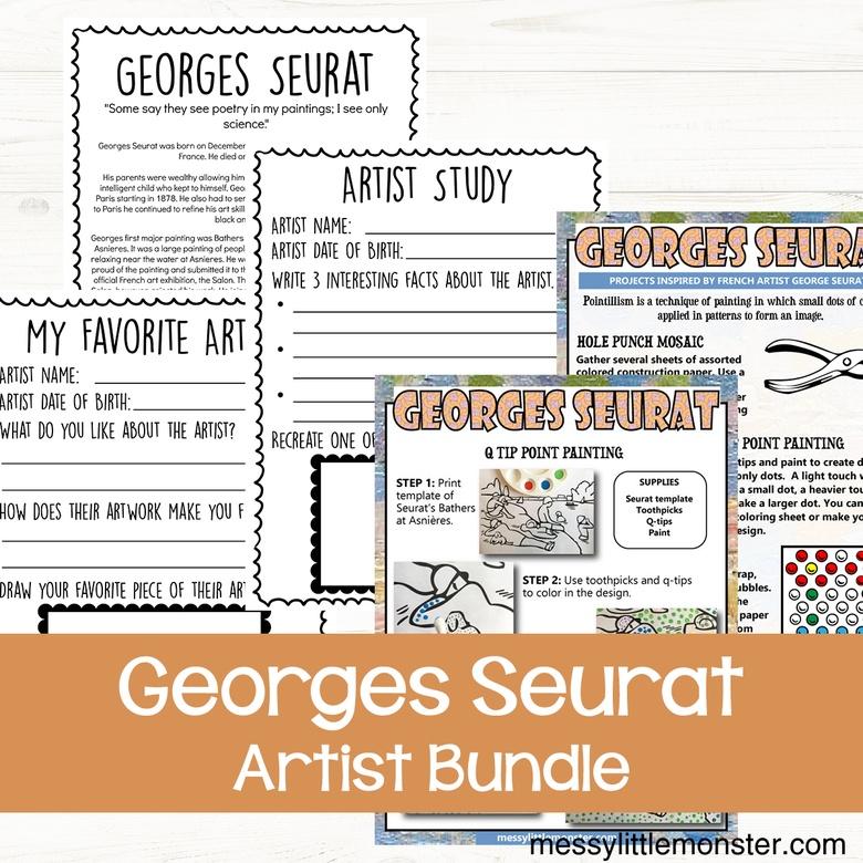 Georges Seurat pointillism craft