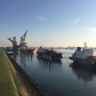 geocaching haven rotterdam uitzicht
