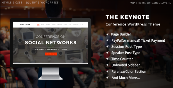 Download Free The Keynote Conference-Event-Meeting WordPress Theme