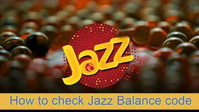 jazz balance check code -jazz warid balance check code