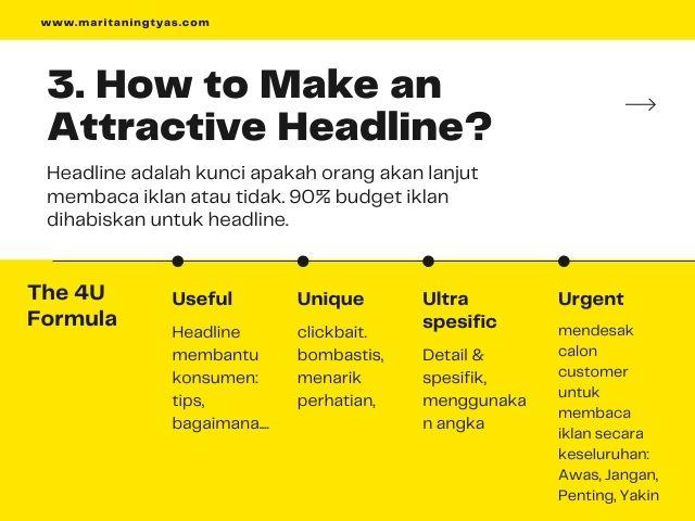 the 4u formula untuk membuat headline