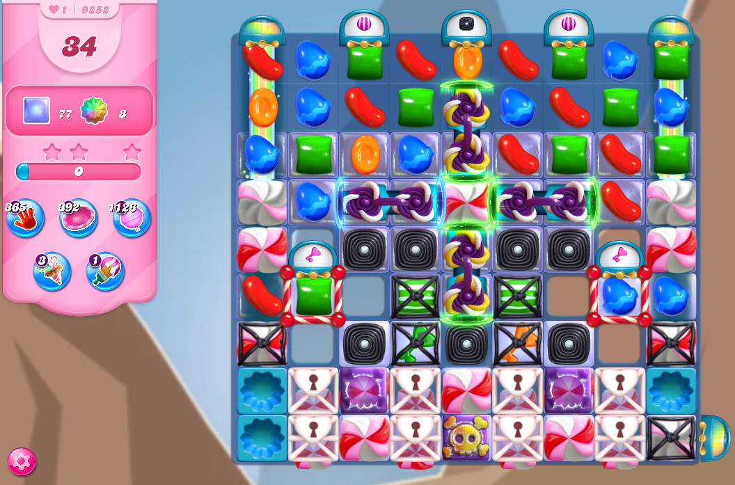 Candy Crush Saga level 9252