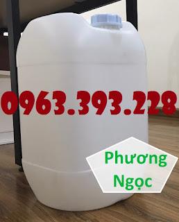 Can đựng hóa chất 25 Lít, can nhựa vuông tròn, can nhựa HDPE 61964935ce64353a6c75