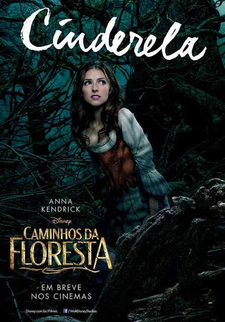 """""""Caminhos da Floresta"""" (Into The Woods) posteres brasileiros Anna Kendrick"""
