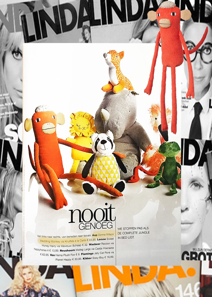 Donna Wilson monkey in Linda Magazine