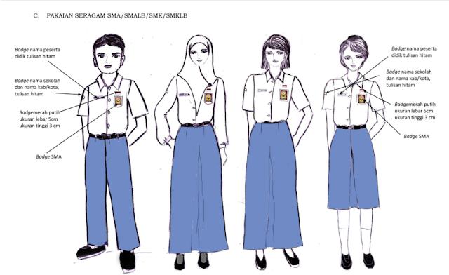 Tata cara Berpakaian anak SMA