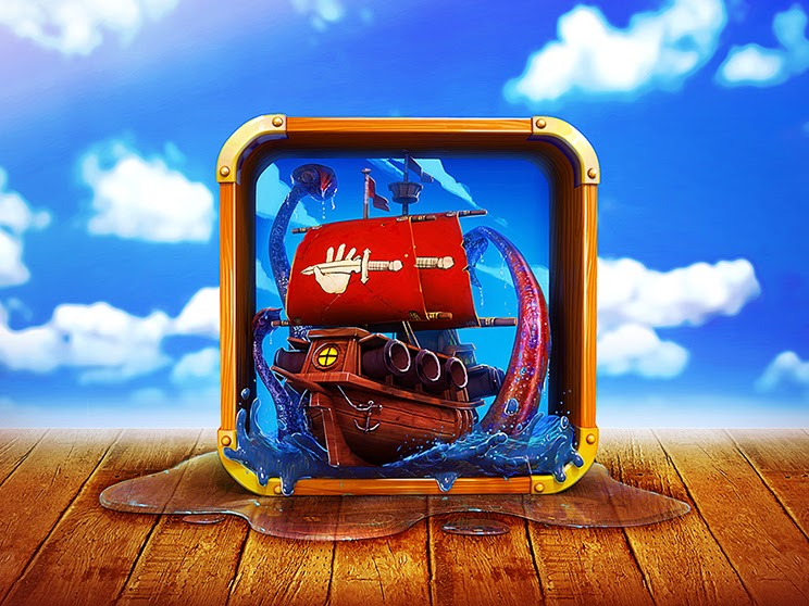Pirates Design with Illustrator and Adobe PSD