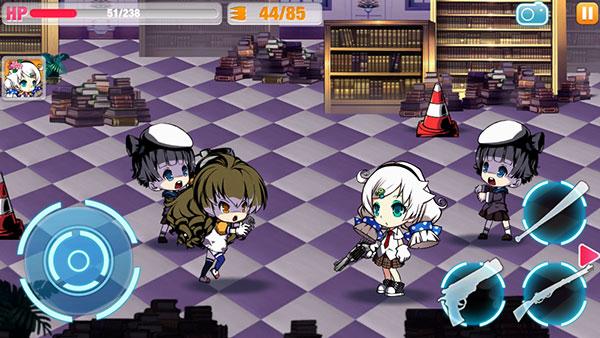 『崩壊学園』 戦闘画面
