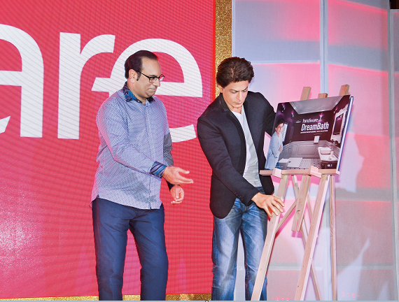 Brand Ambassador Shah Rukh Khan Unveils hindware Dreambath App & Coffee Table Book