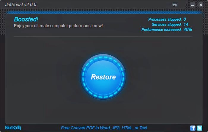 تحميل برنامج تسريع جهاز الكمبيوتر Download Jetboost