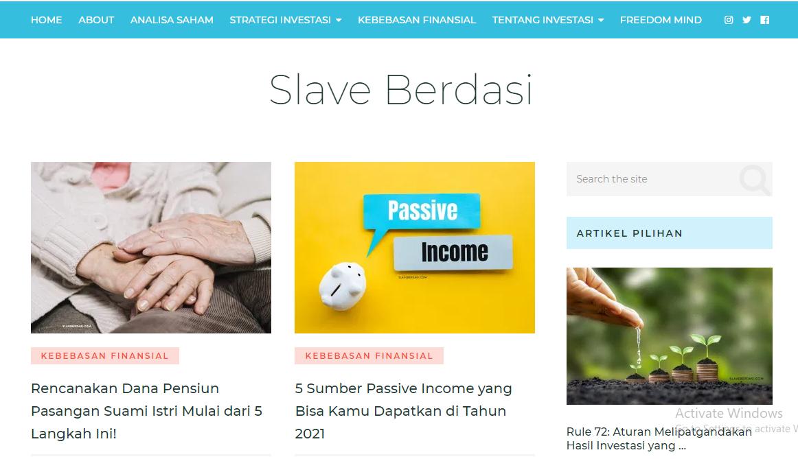 """Blog Finansial """"SlaveBerdasi.com"""""""