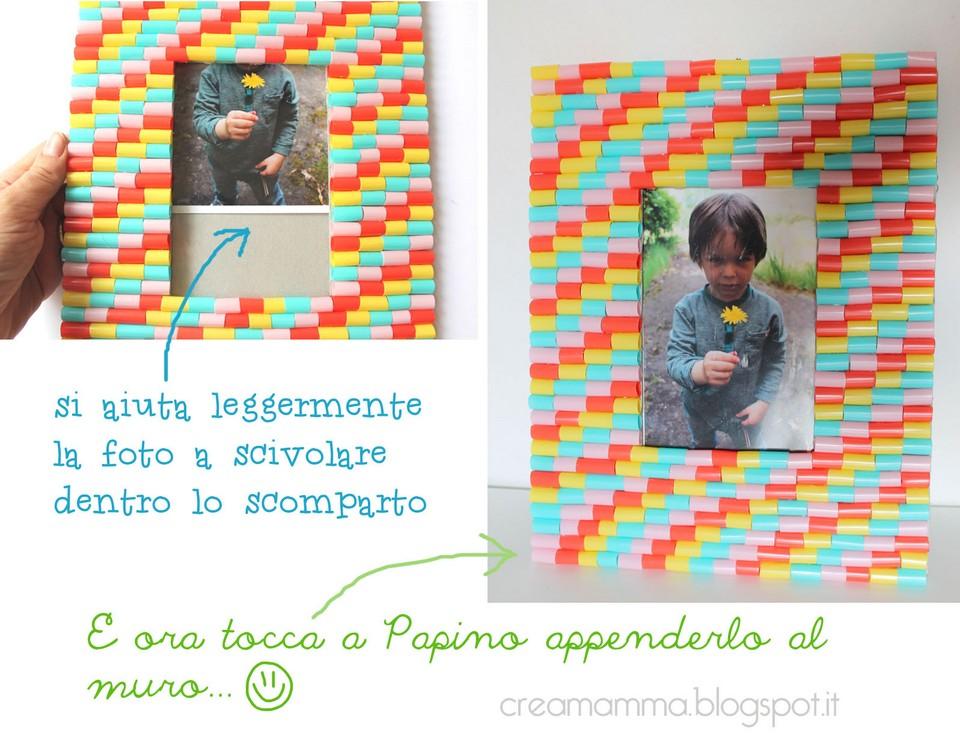 Diario di una creamamma portafoto fai da te decorato con - Vi si confezionano tappeti da appendere al muro ...