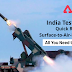 India test fires Quick Reaction Surface-to-Air-Missiles: All you need to know