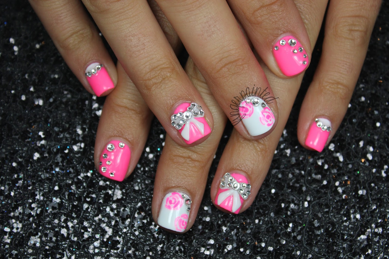 3d Acrylic Nails With Bows - Hot Girls Wallpaper