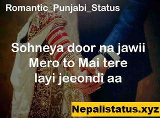 Punjabi Love Cute Status : Romantic Punjabi Love Status or Shayari in Punjabi