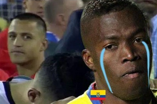 memes Ecuador vs Chile