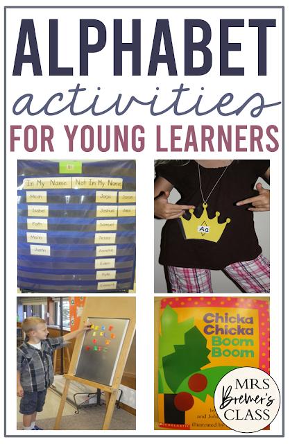 Alphabet activities for Kindergarten for letter practice and sounds