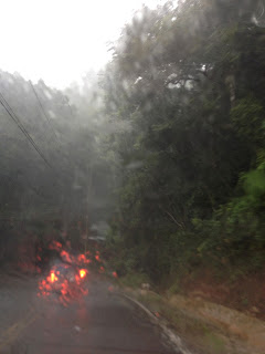 Rain on a highway in Costa Rica