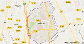 Attentat déjoué visant une église de Villejuif : des messages accablent Sid Ahmed Ghlam dans France carte%2Bvillejuif
