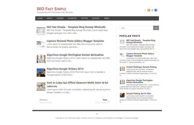 SEO Fast Simple Responsive Blogger Template | King Gecko Template