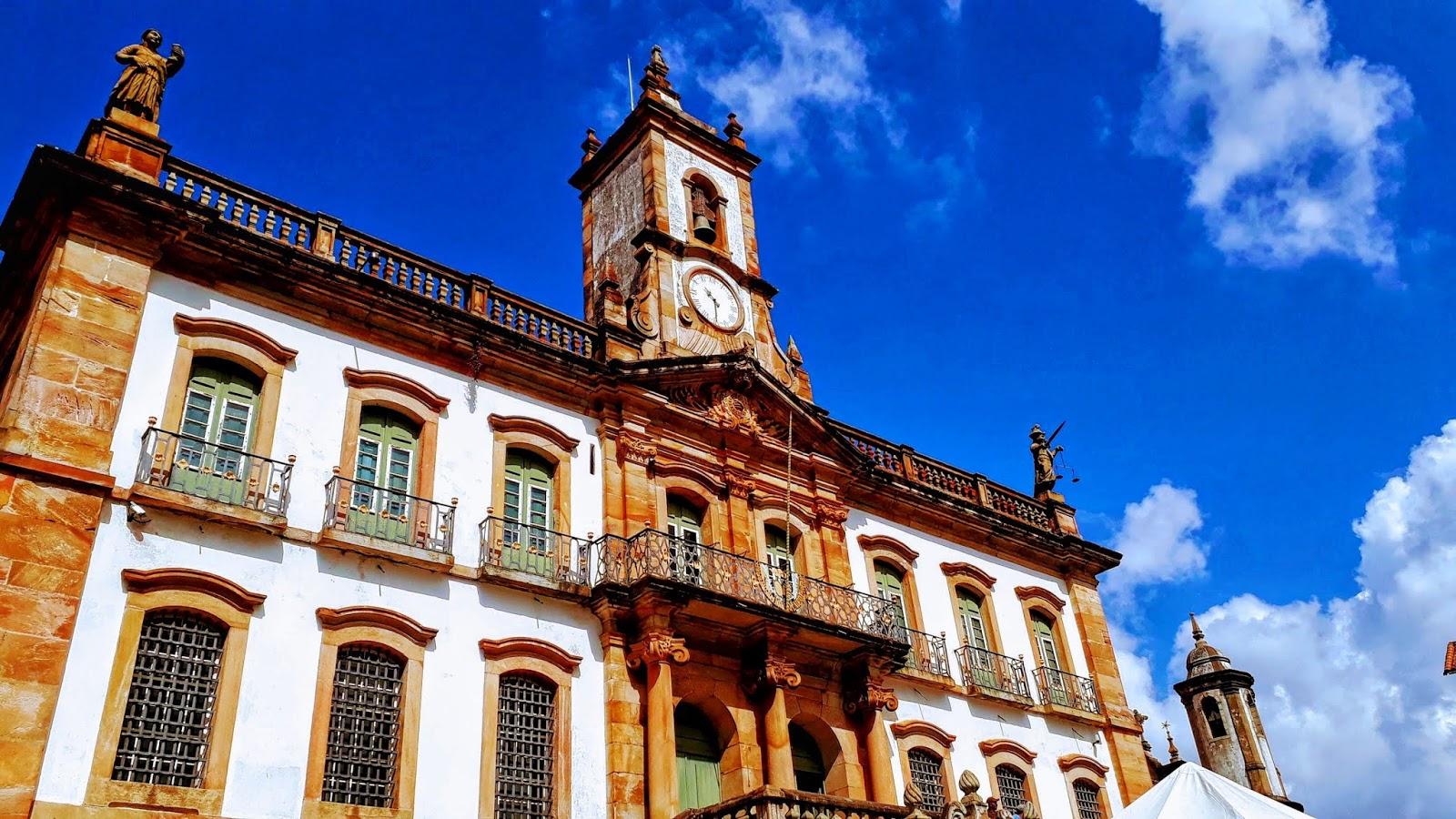 Fachada do prédio do Museu da Inconfidência - Ouro Preto