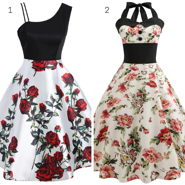 Wishlist Dresslily, floral Vintage Dresses, moda, fashion, vestidos florais, lojas internacinais,