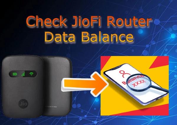 Check Jiofi Router Balance
