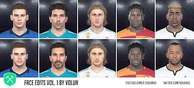 PES 2018 Faces by Volun Vol.1