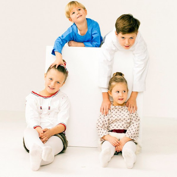 Prince Christian, Princess Isabella, Prince Vincent, Princess Josephine, Crown Prince Frederik and Crown Princess Mary