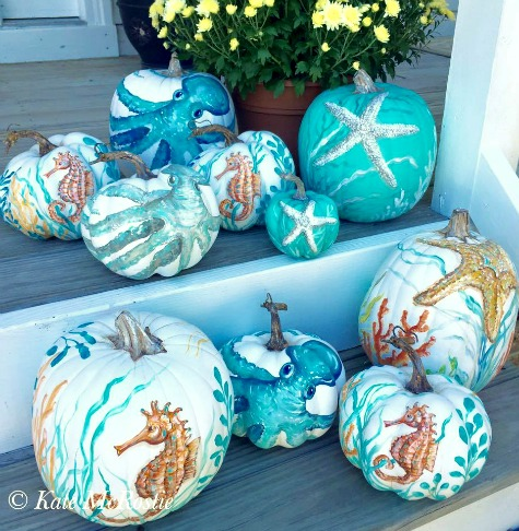 Coastal Art Pumpkins