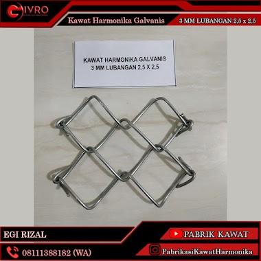 Distributor Kawat Harmonika Galvanis 3mm Lubangan 2,5x2,5cm