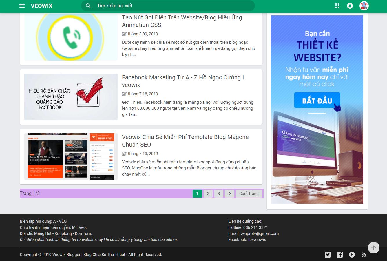 Chia sẻ template blogspot phiên bản gốc miễn phí