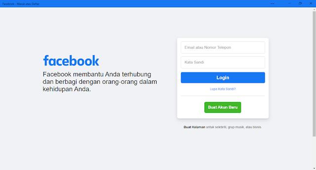 Cara Instal Facebook Di Windows 10