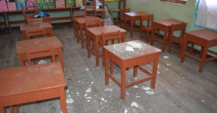 Tres escuelas resultan dañadas tras sismo de 5 grados en Ayacucho, informó el Instituto Nacional de Defensa Civil - INDECI - www.indeci.gob.pe
