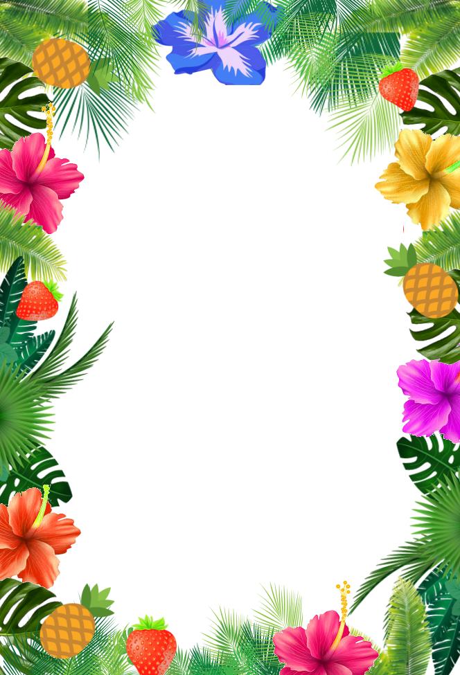 Convite Festa Tropical Para Imprimir