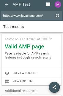 2 Cara Mudah Cek Blog atau Website Valid AMP (Accelerated Mobile Phone) 3