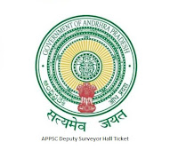 APPSC Deputy Surveyor Hall Ticket