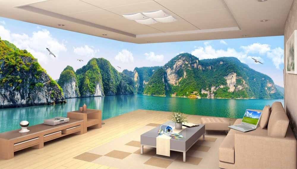 3D Wallpaper Images For Living Room Walls In Modern Home 2018