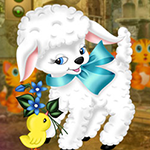 Play Games4King - G4K Prosaic Easter Lamb Escape Game