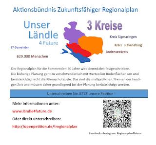 Petition für einen zukunftsfähigen Regionalplan - Bitte unterschreiben auch Sie!