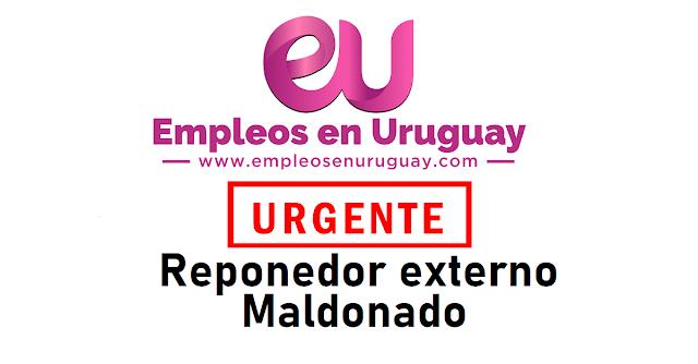 URGENTE Reponedor externo Maldonado