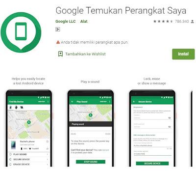 lacak hp yang hilang dengan Android Device Manager