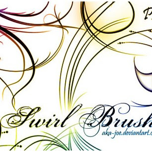 33 Pretty Swirl Brushes for Free Download