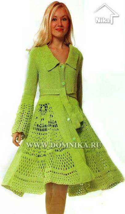 Patron Crochet Abrigo de Punto y Ganchillo