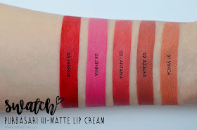 PURBASARI HI MATTE LIP CREAM SWATCH