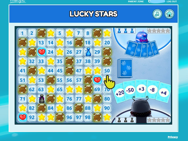 Lucky Stars online math game