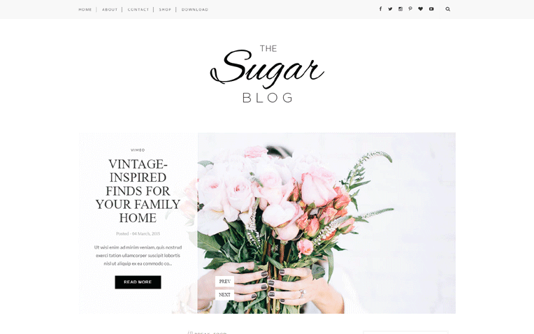 Sugar Free Blogger Template