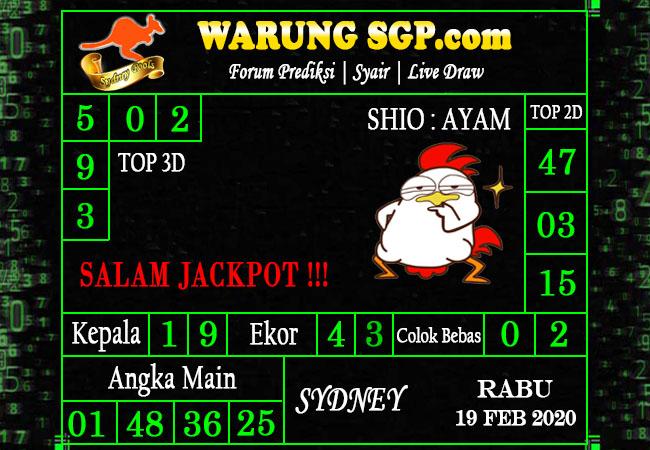 Prediksi Togel JP Sidney 19 Februari 2020 - Prediksi Warung SGP