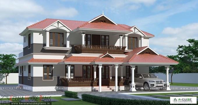 Traditional 4 BR Kerala house design